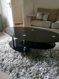 Glass coffee table or tv cabinet