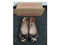 Women's/girls leopard print pumps from schuh, size 4