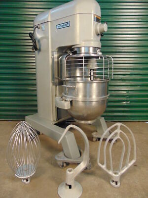 Hobart 60qt Mixer H600t Single Phase Ss Bowl Hook Whip Paddle Warranty
