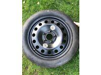 "BMW E46 17"" space saver spare wheel"