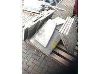 Paving slabs stone effect concrete