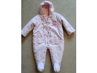 Marks and Spencer pink Snowsuit