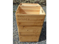 Wooden toy storage box