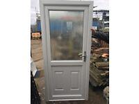 UPVC semi-glazed door