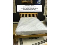 £125.00 Mission Double Bed Frame in Brazilian Pine Free Delivery