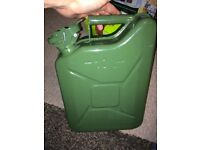 10 Litre Metal Jerry Petrol Can (used unleaded)