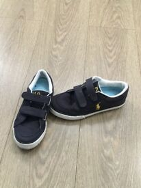 RALPH LAUREN BOYS CANVAS SHOES