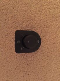 Volkswagen VW Golf folding and heated mirror switch, fully working