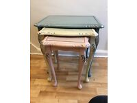 Shady chic nest of tables, pastel colours - hallway, dining room, front room, bedroom furniture