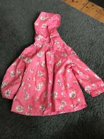 Next girls summer rain jacket 12-18 Months