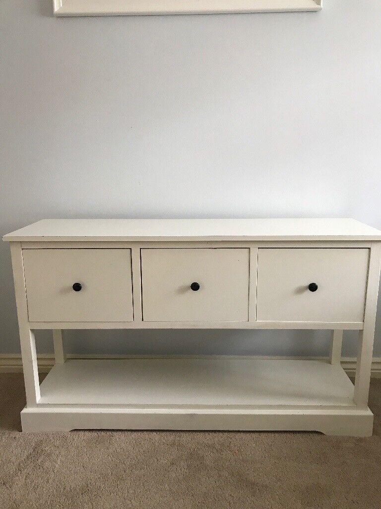 White wooden unit
