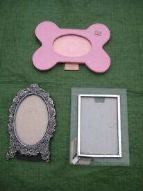 Three Individually Styled Glass Covered Picture Frames - 3 for £5.00