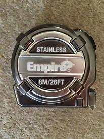 Empire stainless tape measure. OPEN TO OFFERS