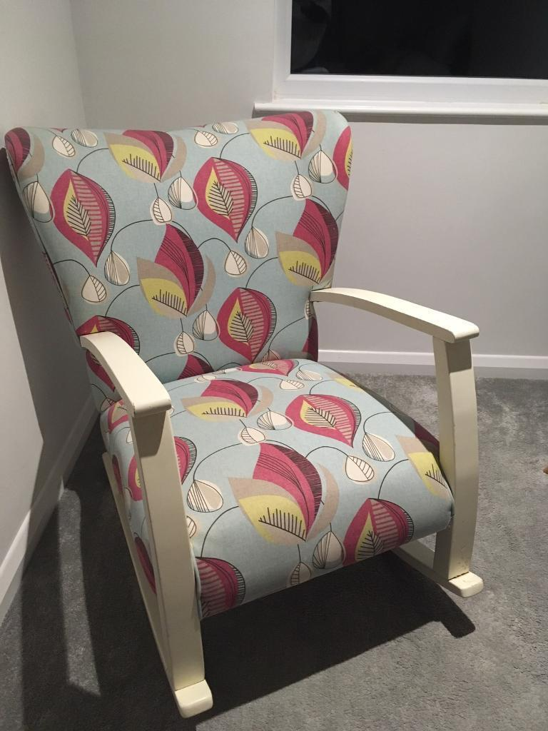 Funky Patterned Rocking Chair In Hurstpierpoint West Sussex Gumtree