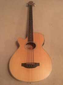 Crafter BA 400 EQ L/N Left Handed Electro / Semi Acoustic Bass Guitar