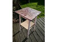 Side Table pink shabby chic vintage