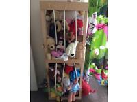 Toy Zoo wooden soft toy nursery storage children's