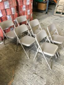 Foldable metal chairs