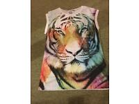 Tiger t shirt with gems on