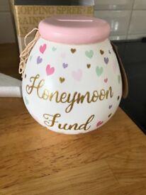 Honeymoon fund money pot- wedding gift