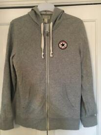 Converse men's large zipped hoodie