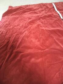 "Rust colour velvet curtains- 45"" x 54"""