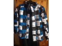 Boys ski jacket and sallopettes