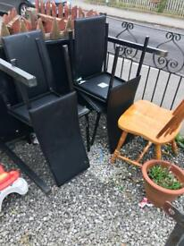 Black glass dining table FREE
