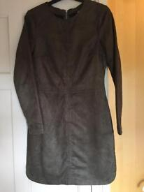 Brown suede dress size 10