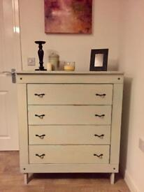 Very solid large fully refurbished Mediterranean style chest of drawers