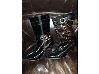 Faith Retro Boots Size 7
