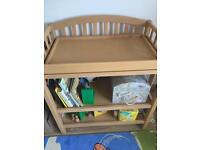Mamas and Papas Changing table with bath- solid wood