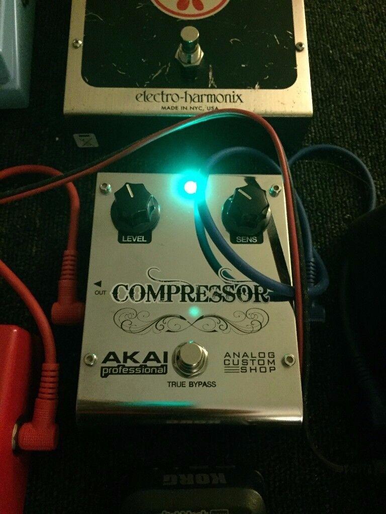 AKAI True bypass compressor. Custom Shop.
