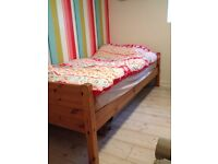 Single wooden bed frame solid