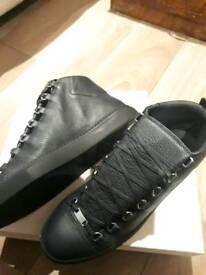 Balenciaga High Sneakers Navy Blue