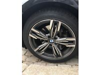 Set of 19th inch alloys with tires for BMW