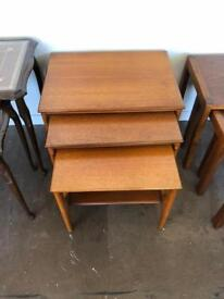 Wooden G-plan nest of tables