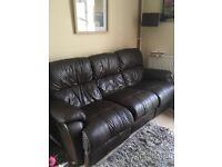 3 seater recliner sofa and single sofa