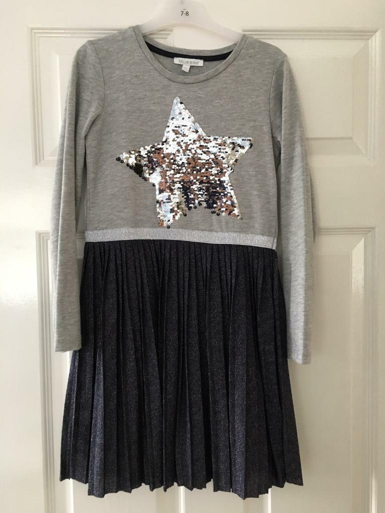 c80ce4119 Girls Bluezoo flipable sequins star dress 8/9 yrs | in Nuneaton ...