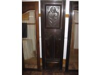 3 ANTIQUE WARDROBE DOORS 2 WITH MIRRORS