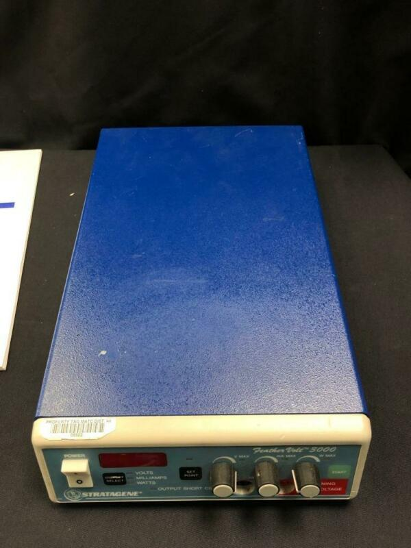 Stratagene Feathervolt 3000, gel electrophoresis power supply, DC