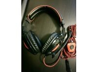 Gaming USB headphones with mic