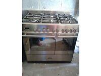 Freestanding double oven.