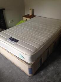 Small double mattress nearly new. Silent night miracoil. Been in our guest bedroom hardly used.