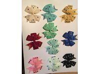 Babies,girls handmade diamanté hair bows