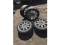 """17""""alloys wheels with tyres, 8 stood"""