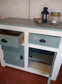 TV cabinet and sideboard, handpainted with Annie Sloan paint t and wax finished.