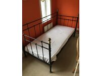 IKEA Day-bed single bed in black and gold plus the mattress