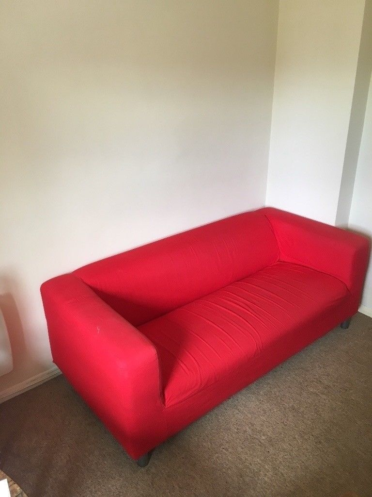 Ikea Klippan Red Sofa In Cambridge Cambridgeshire Gumtree
