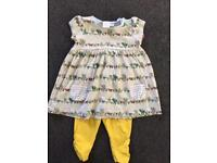 Baby dress and leggings (0-3 months)